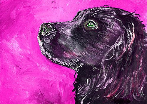 Cocker Spaniel Art Print, Colorful Pink Cocker Spaniel Painting, Spaniel Home Decor, Gift For Cocker Owner, Spaniel Painting, Spaniel Mom, Dog Art Print, Black Cocker Signed Art Print by Oscar Jetson - Dog portraits by Oscar Jetson