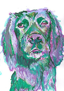 Colorful Cocker Spaniel Wall Art Print, Gift For Cocker Spaniel Owner, Gun Dog Print, Spaniel Painting, Gift For Cocker Spaniel Mom, Dog Art Print, Canine Decor - Dog portraits by Oscar Jetson