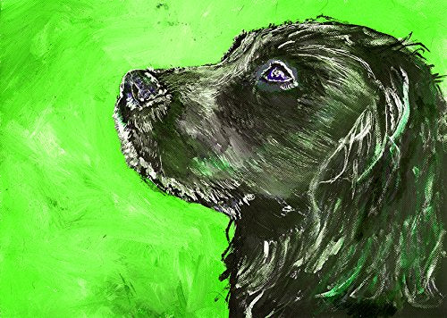 Cocker Spaniel Art, Modern Cocker Spaniel Painting, Dog Home Decor, Gift For Cocker Owner, Spaniel Painting, Spaniel Mom, Dog Art Print, Black Cocker Signed Wall Art Print by Oscar Jetson - Dog portraits by Oscar Jetson