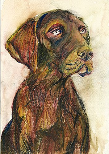 Pointer Art Print, Abstract Pointer Dog Decor, GSP Dog Art Print, Gift for Pointer Owner, Pointer Mom, Expressionist Pointer Art, Pointer Decor, Colorful Pointer Dog Watercolor by Oscar Jetson - Dog portraits by Oscar Jetson