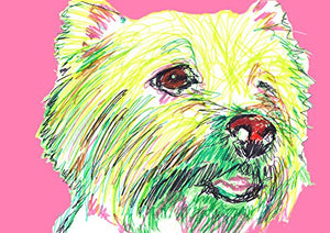 West highland Terrier Gift, West Highland White Terrier Art, West Highland Terrier Gifts. West Highland Dog Choice of size hand signed by Oscar Jetson - Dog portraits by Oscar Jetson