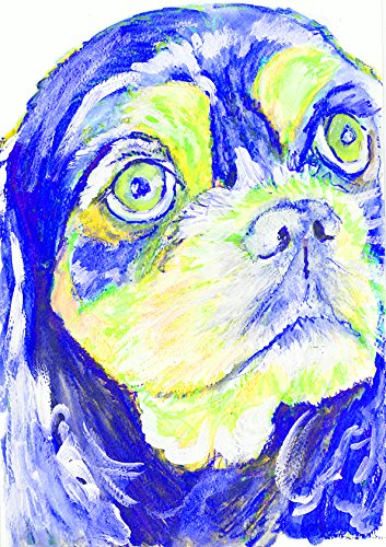 Cavalier King Charles Spaniel Gifts, King Charles Spaniel Art - Abstract King Charles Cavalier Spaniel, Colorful Spaniel Art, Spaniel Gifts for Women, Spaniel Mom Painting, Modern Dog Wall Art - Dog portraits by Oscar Jetson
