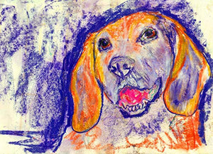 Abstract Modern Beagle Dog Wall Art Print, Colorful Beagle Dog Breed Decor, Beagle Dog Artwork, Dog Modern Pastel Art Print, Choice of Sizes Hand Signed by Pet Portrait Artist Oscar Jetson. - Dog portraits by Oscar Jetson