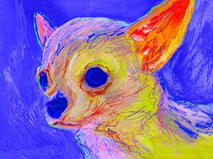 Chihuahua Gift , Abstract Chihuahua Painting, Chihuahua Mom, Dog Artwork, Gift For Chihuahua Lover, Colourful Chihuahua Art Print Signed by Oscar Jetson - Dog portraits by Oscar Jetson