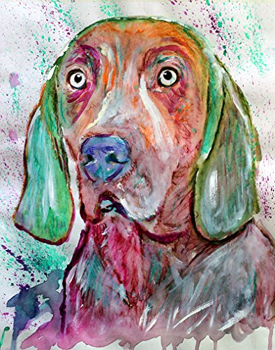 Weimaraner Art Print, Weimaraner Home decor, Colorful Weimaraner Dog, Weimaraner Decor, Weim Accessories, Weimaraner Dad, Weimaraner Gifts, Weimaraner Gifts For Men, Weimaraner wall art - Dog portraits by Oscar Jetson