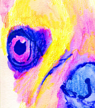 Load image into Gallery viewer, French bulldog art print Yellow Pink watercolor painting frenchie art print - Dog portraits by Oscar Jetson