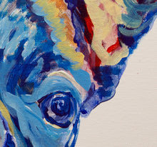 Load image into Gallery viewer, French Bulldog Dog Painting Blue, French Bulldog Print ,acrylic wall art Frenchie Dog Art french bulldog gift idea frenchy art print - Dog portraits by Oscar Jetson