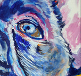 French bulldog painting print ,French Bulldog owner gift idea,Frenchie painting,Bulldog Frances, Frenchie picture Bulldog wallart print - Dog portraits by Oscar Jetson