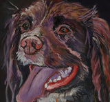 Springer Spaniel Oil painting print, Gift for Springer spaniel owner, Dog portrait,Spaniel picture Fine art print, Springer Spaniel wall art - Dog portraits by Oscar Jetson - 2