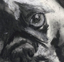 Load image into Gallery viewer, Frenchie, charcoal art print, Black French Bulldog,Gift for French Bulldog owner,Frenchie decor,Dog memorial,French Bulldog drawing  print - Dog portraits by Oscar Jetson