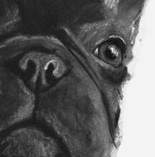 Load image into Gallery viewer, French bulldog art print, Frenchie gift,Frenchie Art, Black frenchie, French Bulldog decor, French Bulldog owner gift, Frenchie art print - Dog portraits by Oscar Jetson