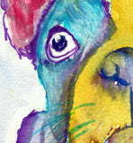 Frenchie, French bulldog art print, Colorful French Bulldog,Gift for French Bulldog owner,Frenchie art,Dog memorial,French Bulldog art print - Dog portraits by Oscar Jetson