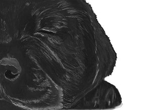 Black lab owner gift,Labrador puppy art print,dog loss gift,black labgift idea,lab wall art,dog lover gift,black lab art print - Dog portraits by Oscar Jetson