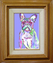Load image into Gallery viewer, French Bulldog art Print, French Bulldog Painting, Dog Portrait, Bulldog Frances art, Gift for French Bulldog owner, colorful dog picture - Dog portraits by Oscar Jetson