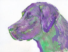 Load image into Gallery viewer, Labrador Print, Colorful lab dog, Lab wall art, Labrador mom, Labrador owner gift, Labrador decor, Labrador painting, Labrador wall art - Dog portraits by Oscar Jetson