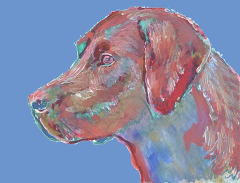 Labrador art Print, Lab wall art, Labrador painting, Lab mom gift, Lab gift idea, Lab owner gift, Lab lover, Red Labrador - Dog portraits by Oscar Jetson - 1