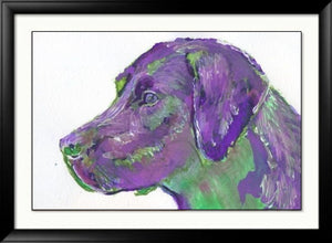 Labrador Print, Colorful lab dog, Lab wall art, Labrador mom, Labrador owner gift, Labrador decor, Labrador painting, Labrador wall art - Dog portraits by Oscar Jetson