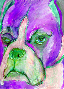 Boxer Dog Canvas Print - Signed wall art from Original boxer dog Painting - Dog portraits by Oscar Jetson