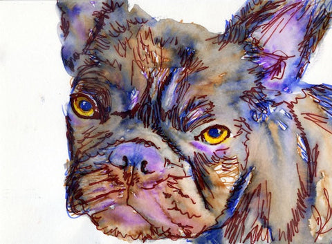 French Bulldog, Frenchie wall art, French bulldog print, Frenchie decor, frenchie watercolor, Frenchie mom, French Bulldog gift, Frenchie - Dog portraits by Oscar Jetson