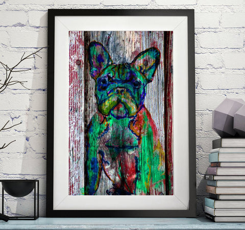 French Bulldog decor, wall art print,French bulldog owner gift,Dog wall art, Frenchie decor, Frenchie mom, French Bulldog wall art print - Dog portraits by Oscar Jetson