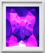 Load image into Gallery viewer, French bulldog Vivid Pink Purple Abstract art print, Cubist style, modern colorful dog art, wall art print home decor french bulldog art - Dog portraits by Oscar Jetson
