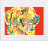 Golden Retriever art print signed Yellow Red home decor, dog art, puppy,Abstract dog portrait print Golden Retriever gift idea - Dog portraits by Oscar Jetson - 4