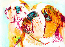 Load image into Gallery viewer, English Bulldog owner gift, English bulldog wall  art print, Bulldog Painting, Bulldogs art , Bulldog picture,bulldog decor, dog loss gift - Dog portraits by Oscar Jetson