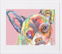 Load image into Gallery viewer, Chihuahua, Chihuahua lover gift, Chihuahua mom gift, Chihuahua print,dog Portrait, wall art print, colorful abstract chihuahua dog art - Dog portraits by Oscar Jetson