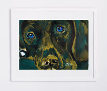 Load image into Gallery viewer, Labrador painting art print Dog Painting wall art Print home decor,Green, Golden yellow Labrador gift idea dog print Abstract Labrador print - Dog portraits by Oscar Jetson