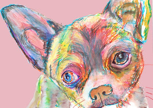 Chihuahua, Chihuahua lover gift, Chihuahua mom gift, Chihuahua print,dog Portrait, wall art print, colorful abstract chihuahua dog art - Dog portraits by Oscar Jetson