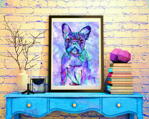 French Bulldog wall art, Frenchie decor, Frenchie owner, Home Decor, frenchie picture, French Bulldog Gift, Frenchie art - Dog portraits by Oscar Jetson