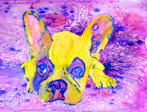 French Bulldog print, Frenchie wall art, Frenchie decor, Frenchie mom, Frenchie gift idea, French bulldog gift, French bulldog decor - Dog portraits by Oscar Jetson