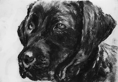 Labrador owner gift,Labrador art print,dog wall art,dog loss gift,loss of dog gift,black lab gift, lab wall art, dog lover gift,black lab. - Dog portraits by Oscar Jetson