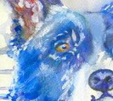 Border Collie art print, Border Collie Gift, Border Collie mom, Border gollie owner, Dog painting, collie watercolor, collie gift idea - Dog portraits by Oscar Jetson