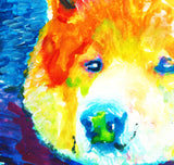 Akita painting art print, Akita Inu dog gift, colorful akita dog art, Akita dog painting, Abstract Akita, Dog painting, Gift for Akita owner - Dog portraits by Oscar Jetson