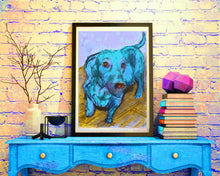 Load image into Gallery viewer, Dachshund painting art print Dachshund portrait, Dachshund gift Doxie lover gift idea Dachshund owner picture of Dachshund dog art print - Dog portraits by Oscar Jetson