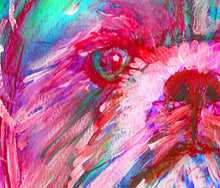 Load image into Gallery viewer, Shih Tzu owner Gift, Shih Tzu Dog Painting, Aquamarine PInk and Red Shihtzu picture ,Shihtzu art print,Colorful Dog art, Watercolor Shih Tzu - Dog portraits by Oscar Jetson