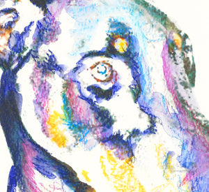 Doberman wall art, Doberman art Print, Doberman mom, Doberman gift,Dobie painting ,Dog watercolor, doberman owner, Colorful Doberman - Dog portraits by Oscar Jetson
