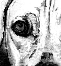 Load image into Gallery viewer, Weimaraner Weim, Grey ghost dog painting wall art print black and white dog watercolor painting portrait,  art home decor Weimaraner print - Dog portraits by Oscar Jetson - 2