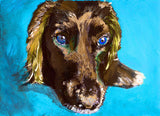 Cocker Spaniel owner gift, Working Cocker painting. Watercolor and acrylic dog Print,colorful dog painting, Cocker spaniel print - Dog portraits by Oscar Jetson - 2