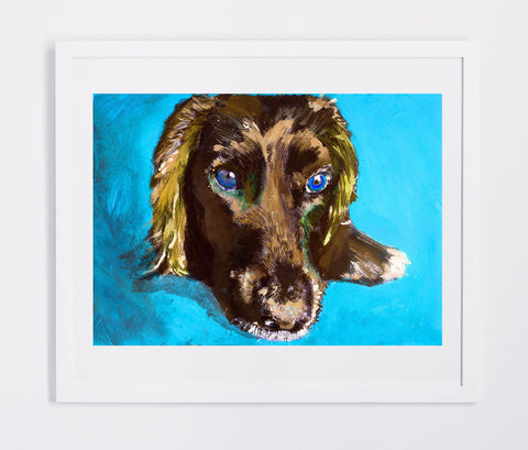Cocker Spaniel owner gift, Working Cocker painting. Watercolor and acrylic dog Print,colorful dog painting, Cocker spaniel print - Dog portraits by Oscar Jetson - 1