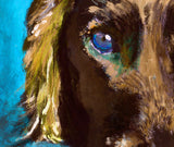 Cocker Spaniel owner gift, Working Cocker painting. Watercolor and acrylic dog Print,colorful dog painting, Cocker spaniel print - Dog portraits by Oscar Jetson - 4