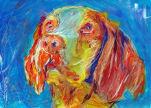 Load image into Gallery viewer, Brittany Spaniel dog painting,dog gift idea, Dog portrait, Brittany dog Brittany Wiegref Epagneul Breton French Brittany wall art print - Dog portraits by Oscar Jetson