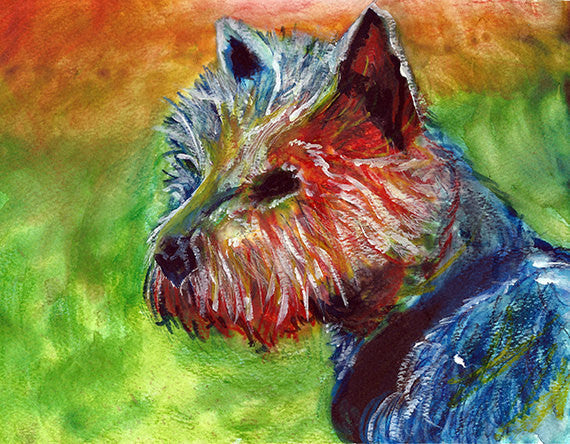 Yorkshire terrier art print, Yorkie dog painting, Yorkshire terrier Gift, Dog art 8x10 yorkie, 11x14 Yorkie art, Yorkshire terrier wall art - Dog portraits by Oscar Jetson