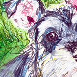 Schnauzer painting, dog Painting, Schnauzer  Print , watercolor, art  print, Schnauzer Dog Art, 8x10, 11x14 wall art print - Dog portraits by Oscar Jetson - 3