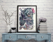 Load image into Gallery viewer, Schnauzer wall art, Schnauzer print,Schnauzer decor, Schnauzer owner Gift, Schnauzer Watercolor, Dog wall art,Giant Schnauzer, Schnauzer mom - Dog portraits by Oscar Jetson