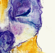 Load image into Gallery viewer, French Bulldog Painting art print, yellow and Lilac, French Bulldog Print,watercolor art, Bulldog owner gift, French Bulldog giclee print - Dog portraits by Oscar Jetson