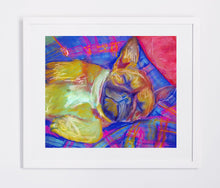 Load image into Gallery viewer, French Bulldog Dog Painting colorful, French Bulldog Print , watercolor art Frenchie Dog french bulldog gift, french bulldog art print - Dog portraits by Oscar Jetson