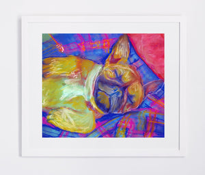 French Bulldog Dog Painting colorful, French Bulldog Print , watercolor art Frenchie Dog french bulldog gift, french bulldog art print - Dog portraits by Oscar Jetson