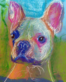 French Bulldog decor, Gift for frenchie owner, colorful wall art print, Frenchie decor, pet loss gift, French bulldog picture art print - Dog portraits by Oscar Jetson - 2